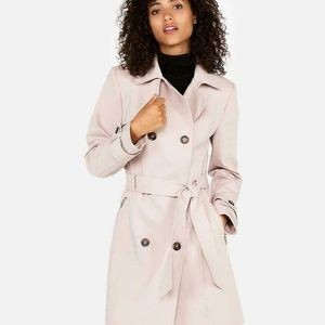 NEW Express Classic Double Breasted Trench Coat Be
